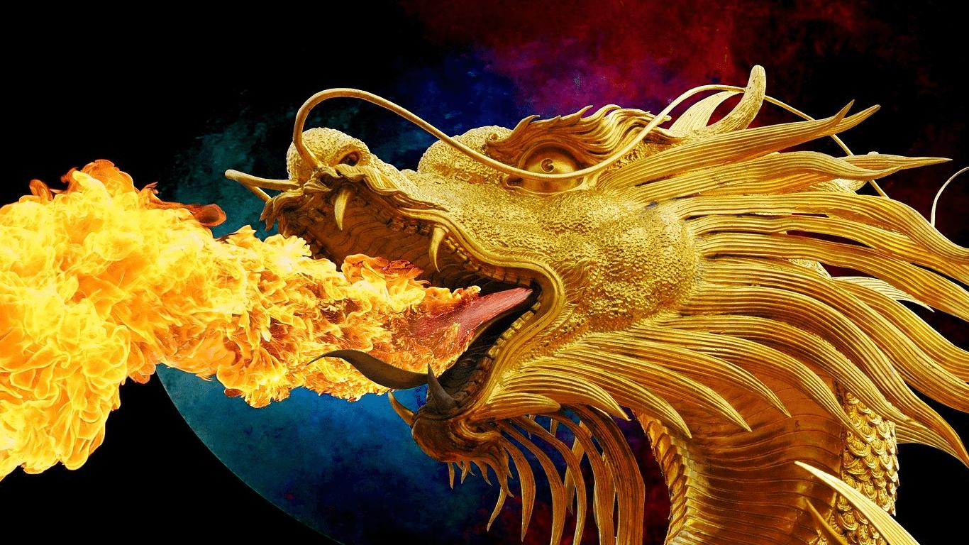 smok ziejący ogniem